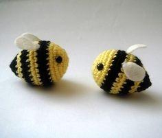 Cute amigurumi bees
