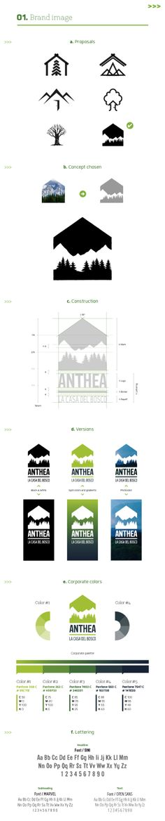 Anthea: Wildlife park / Corporate ID project by Stefania Pizzichi, via Behance