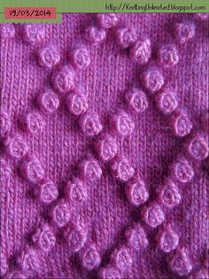Diamond Bobble Stitch Knitting Unlimited: Bobble Stitch Patterns