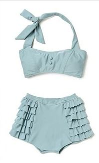 shabby chic. bathing suit