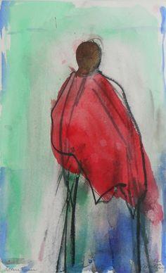 Artist - Oskar Koller | GALLERY Online Galerie, Watercolor Paintings, Watercolours, Collage, Diy Art, Artsy, Silhouette, Tier, Inspiration