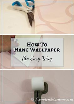 Welcome to a new collection of DIY ideas featuring 15 Useful Tips & Tricks For Wallpaper Application And Usage. Look Wallpaper, How To Hang Wallpaper, Paper Wallpaper, Adhesive Wallpaper, Textured Wallpaper, Wall Wallpaper, Hanging Wallpaper, Wallpaper Installation, Unique Wall Decor