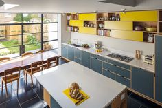 Love the use of something other than white units Plywood kitchen seen on Houzz designed and made by Uncommon Projects, London