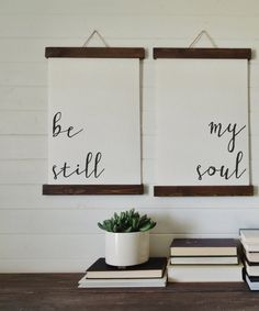 be still my soul/calligraphy wall art/canvas art print/wood sign/canvas print/wall decor/set of Creative Wall Decor, Creative Walls, Unique Home Decor, Diy Home Decor, Wall Decor Set, Decor Room, Wall Decorations, Art Decor, Wood Print