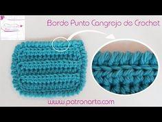 Borde de Crochet a Punto Cangrejo - YouTube