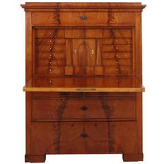 Biedermeier Fall-Front Secretaire in Mahogany, circa 1825 | From a unique collection of antique and modern secretaires at https://www.1stdibs.com/furniture/storage-case-pieces/secretaires/