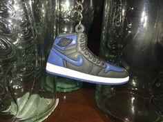Jordan 1 blue and black keychain  AJ1 blue and by Metrosomething