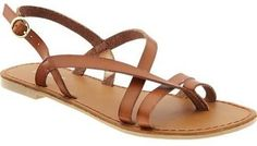 Womens Cross-Strap Sandals at ShopStyle