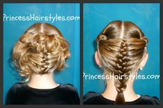 Mermaid Fin Braid and Updo Hairstyles from Princess Hairstyles