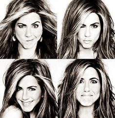 Jennifer Aniston - A four-square photo project to do now that our book is submitted?
