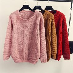Korean New Fashion Twisted Patchwork Casual Sweaters Autumn Winter Solid  Women Pullovers Long Sleeve O neck Knitwear 62897-in Pullovers from Women's Clothing & Accessories on Aliexpress.com | Alibaba Group