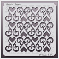 27-00097 R SC Hearts & Design Wall Stencil