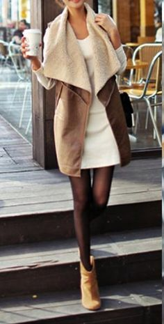 The truth is that building the perfect fall outfits has less to do with having the right items, and more to do with knowing how to put them together in winter fashion ideas Vest Outfits For Women, Mode Outfits, Casual Outfits, Fashion Outfits, Clothes For Women, Womens Fashion, Fashion Ideas, Latest Clothes, Fashion Boots