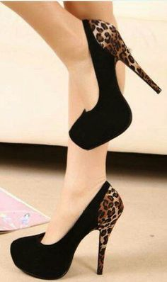 High-Heeled Shoes Leopard Splicing