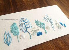 Wild Coral modern hand embroidery pattern por KFNeedleworkDesign