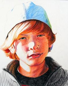 Colored pencil portrait.  Found on Etsy