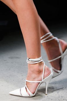 Narciso Rodriguez SS 2014. (New twist on the Wang heels from two seasons ago)