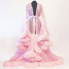 Catherine D'Lish fur robe for an elegant look.   <3 @benitathediva