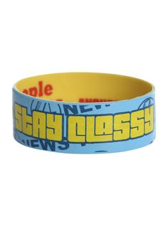 Anchorman Stay Classy Rubber Bracelet   Hot Topic