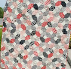 "{Sisters and Quilters}: Fabulous New Quilt ideas! ""This favorite X's and O's quilt was made with charm packs from the Mama Said Sew Collection by Sweetwater. The cream with the grey dot is Vintage Modern."""