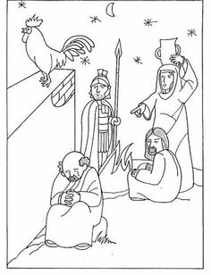 peter denies jesus coloring pages | Jesus washing the feet of the apostles | Easter 2 ...