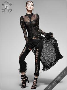y-561 The Dutchess top   Transparent Gothic style gown.   Gothic, Steampunk, Metal, Punk, Lolita, Fetish fashion style e-shop. Punk Rave, RQ-BL, Fantasmagoria clothing brands