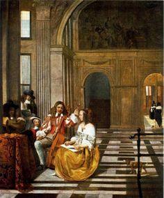 Pieter de Hooch Company Making Music