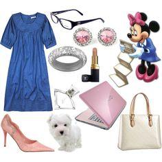 """""""Disney challenge:: Minnie at work"""" by irishfleur06 on Polyvore"""