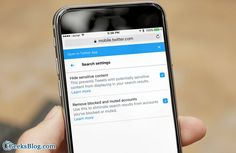 How to Enable Safe Search Mode in #Twitter on #iPhone and #Computer