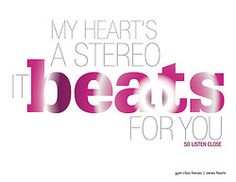 Jennifer McGee | Graphic Design | 365 Lyric A Day Project | Day 76 | Gym Class Heros | Stereo Hearts