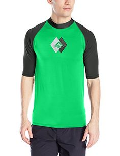 Kanu Surf Men's Energy Upf 50  Rashguard, Green, Large * Locate the offer simply by clicking the VISIT button