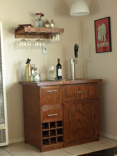Pottery Barn Wine Bar and Kegerator Inspiration to Actuality ...