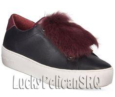 Michael Kors Leather Medium (B, M) Athletic Shoes for Women Pom Pom Sneakers, Michael Kors Shoes, Poppy, Athletic Shoes, Slippers, Medium, Leather, Ebay, Black
