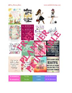 Making your own stickers like these Free Printables Fitness Motivation Theme Planner Stickers is easy once you get the hang of it and a lot of fun. Use these with an Erin Condren (or other) planner or even a wall calendar. Glam Planner, Agenda Planner, Free Planner, Erin Condren Life Planner, Happy Planner, Printable Planner, Free Printables, Teacher Planner, Planner Ideas