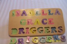 Personalized 3 Line name puzzle handmade by WEBBEREDUPRODUCTS