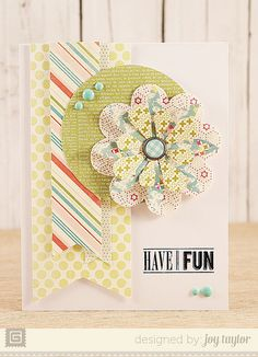 Flowers are die cut/could use Basic Grey kits    Have Fun by joytaylor1975, via Flickr