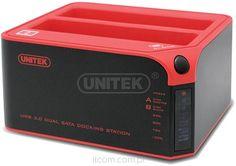 Unitek Y-3022 st.dok. DUAL HDD USB 3.0 clone func. - iT-Com sklep internetowy