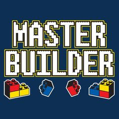 Master Builder T-Shirt Lego Movie Cake, Lego Movie Party, Lego Tray, Lego Base Plates, Lego Humor, Lego Shirts, Custom Lego, Lego Pieces, Legoland