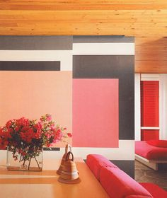 I think this is one wall, but I'm thinking spread the design across multiple walls so that they give different looks from different angles.  ...Ettore Sottsass