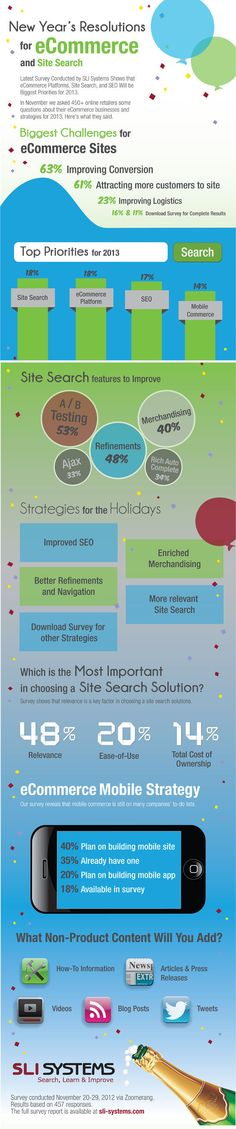 Global Survey Reveals Retailers' New Year's Resolutions for eCommerce and Site.