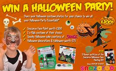 Win all your Halloween Party Essentials! Halloween Face Paint Scary, Spooky Halloween Cakes, Halloween Decorations, Halloween Party, Face Painting Designs, Competition, Essentials, Halloween Jewelry