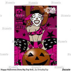 Happy Halloween Dirty Big Top Soda Card 03