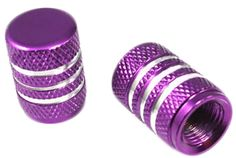 """Amazon.com : (2 Count) Cool and Custom """"Diamond Etching with Easy Grip Texture"""" Tire Wheel Rim Air Valve Stem Dust Cap Seal Made of Genuine Anodized Aluminum Metal {Electric Toyota Purple and Silver Colors - Hard Metal Internal Threads for Easy Application - Rust Proof - Fits For Most Cars, Trucks, SUV, RV, ATV, UTV, Motorcycle, Bicycles} : Sports & Outdoors"""