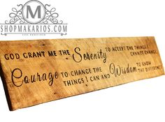 """Serenity Prayer"" - Barn Wood Sign - Custom Sign - Wood Sign - Decor"
