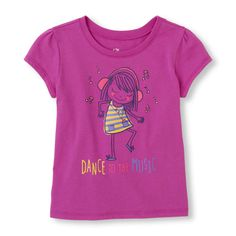Short Sleeve 'Dance To The Music' Girl Graphic Tee | The Children's Place