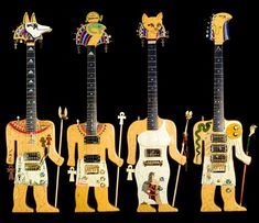 Exotic hieroglyph guitars
