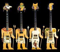 Exotic hieroglyph guitars