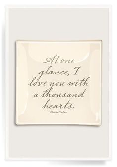 At One Glance, I Love You Decoupage Glass Tray