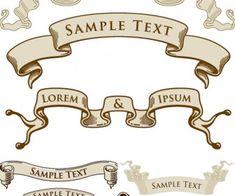 Vintage ribbons templates vector