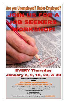 Job Seeker's Workshop  SCPLS Kodak Branch Library